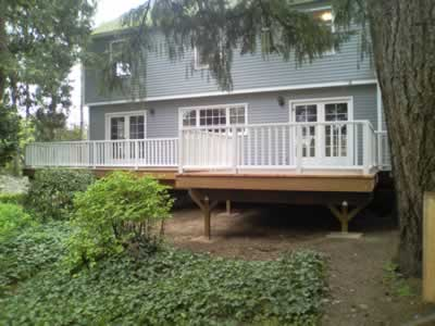 deck after at rear of home