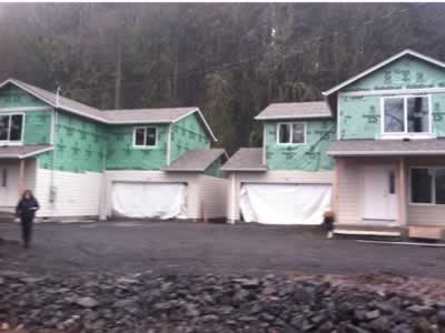 houses insulated ready for siding